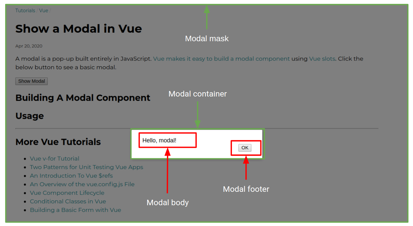 Show a Modal in Vue   Mastering JS